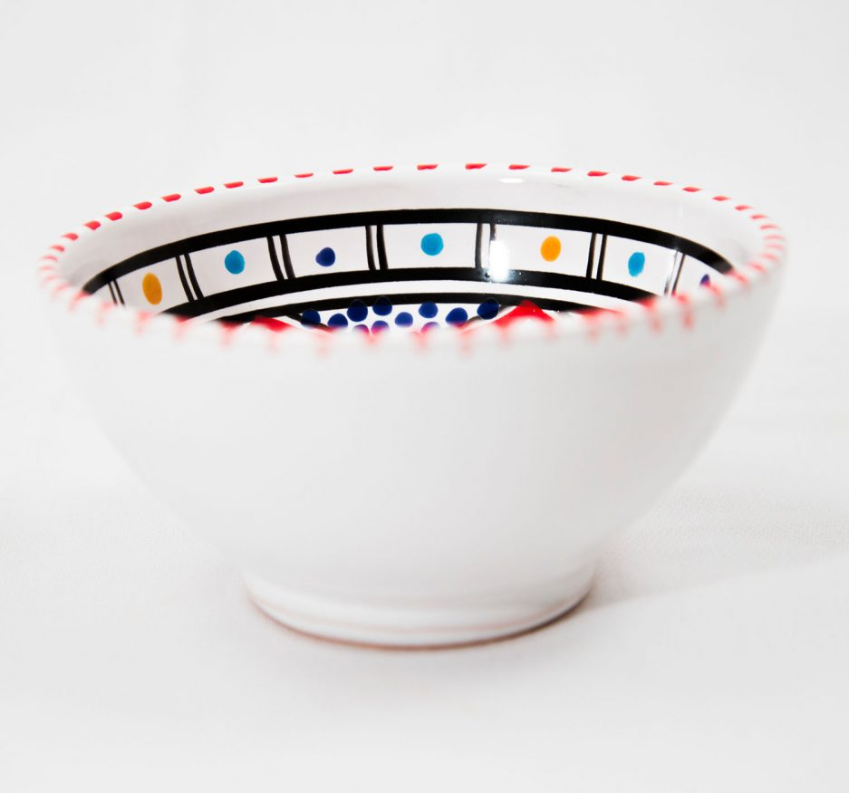 SMALL BOWL: RED ACCENT-1878