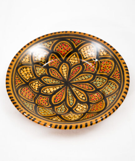 SMALL Deep ROUND PLATE: BERBER-0