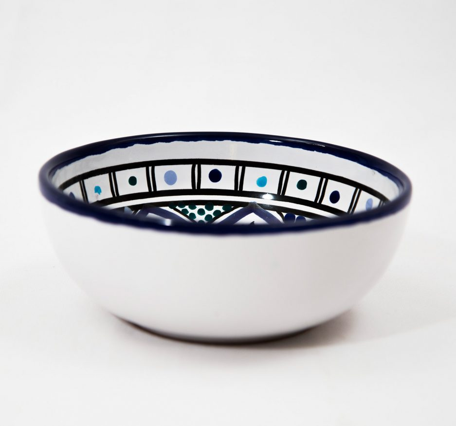 SMALL BOWL: BLUE ACCENT-1873