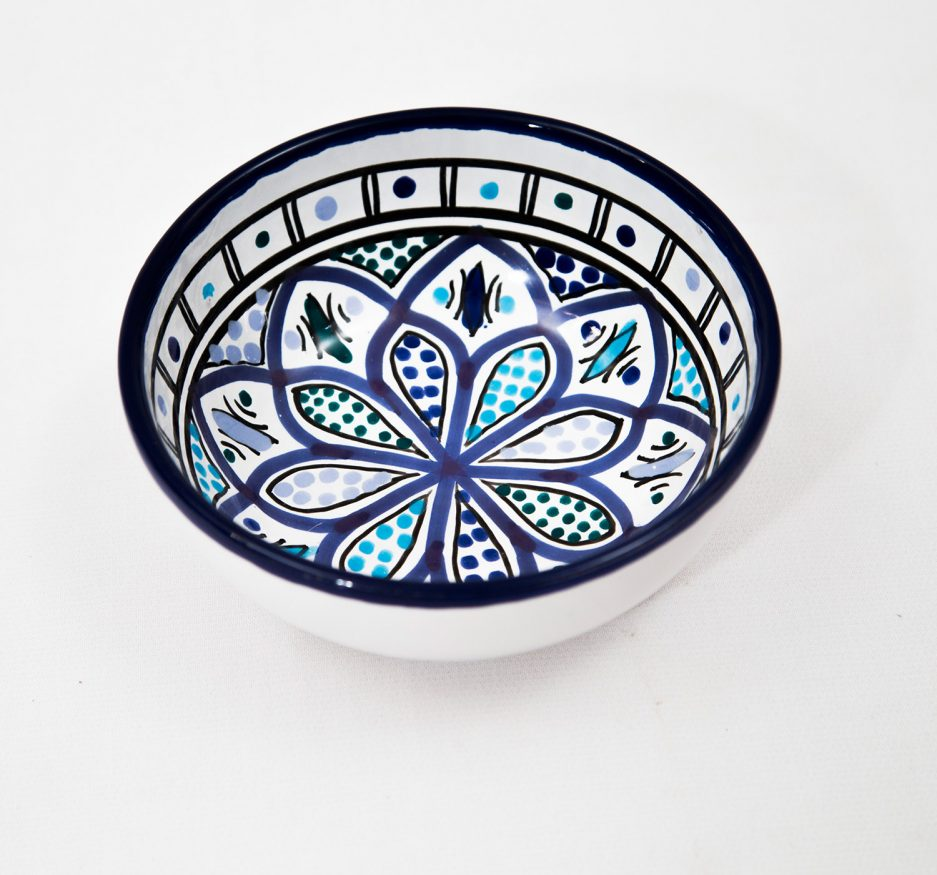SMALL BOWL: BLUE ACCENT-0