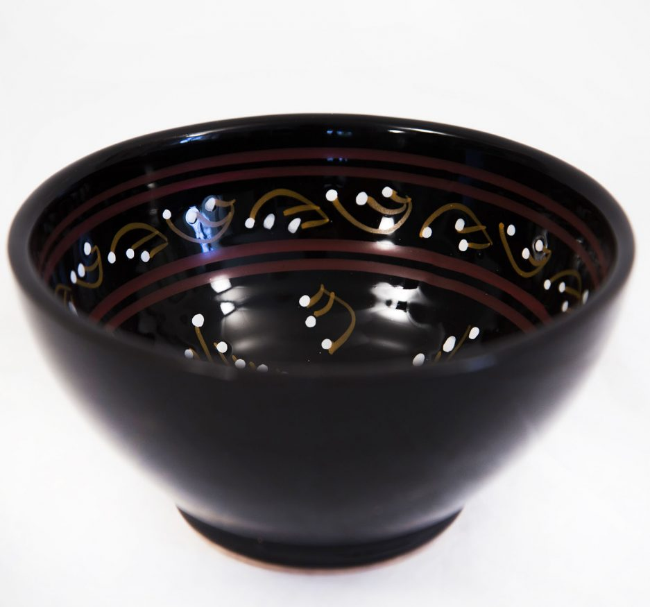 SMALL BOWL: PAINTED BLACK-1871