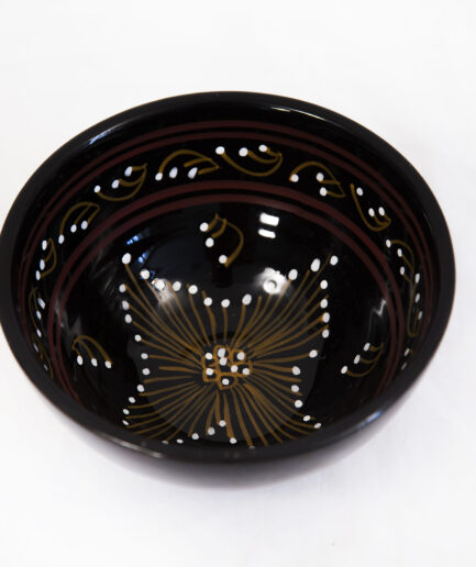 SMALL BOWL: PAINTED BLACK-0