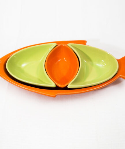 Large Fish Dipping set: Orange and Green -0