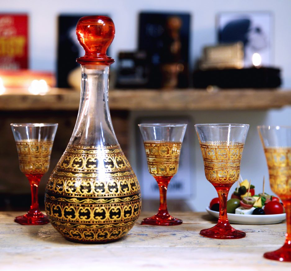 Orange Topaze Wine SET-2344