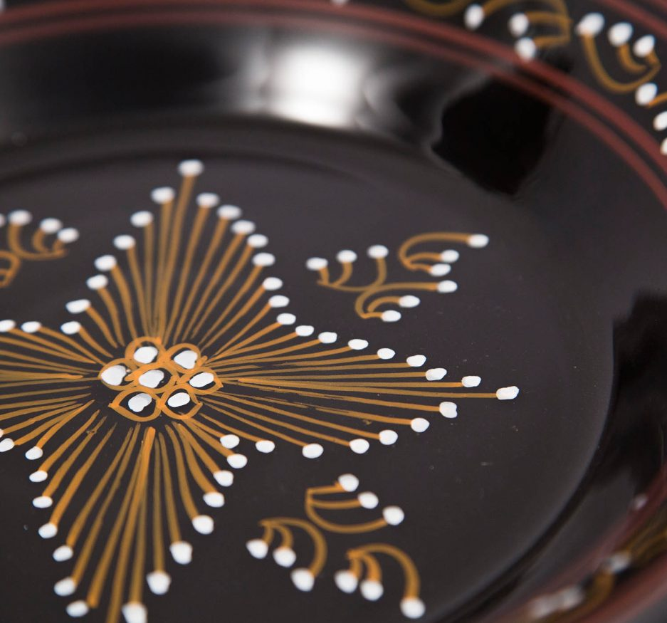 Medium round Plate : Black Painting-1918