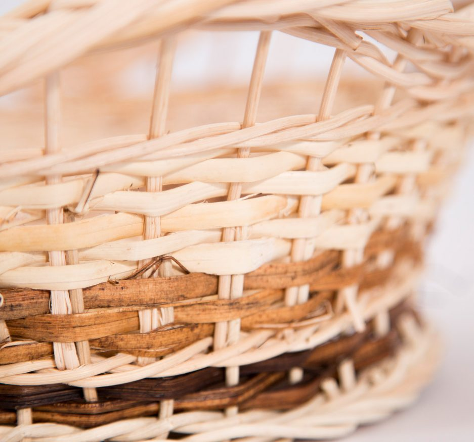 HANDWOVEN RATTAN WAVES COUNTER BASKET-1856