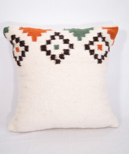 Small Bohemian wool pillow-0