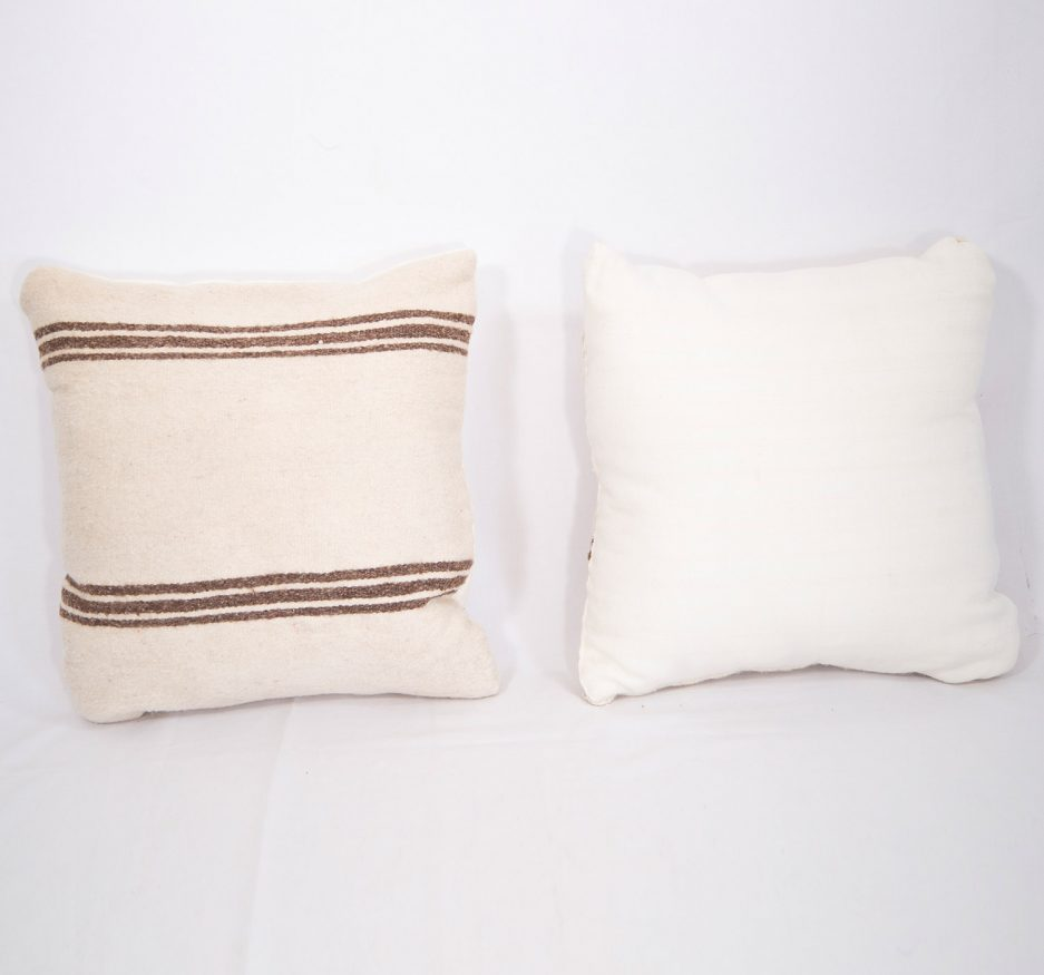 Small Wool stripped pillow-1810