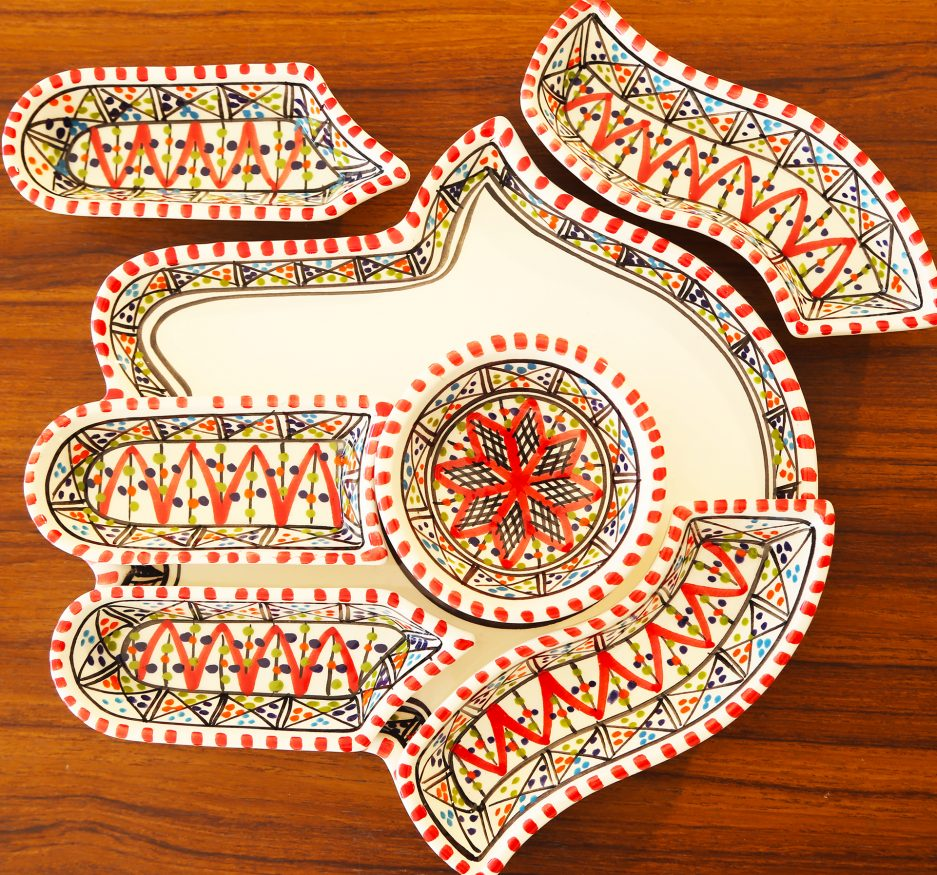 Large Kamsah Dipping set: Red-2329