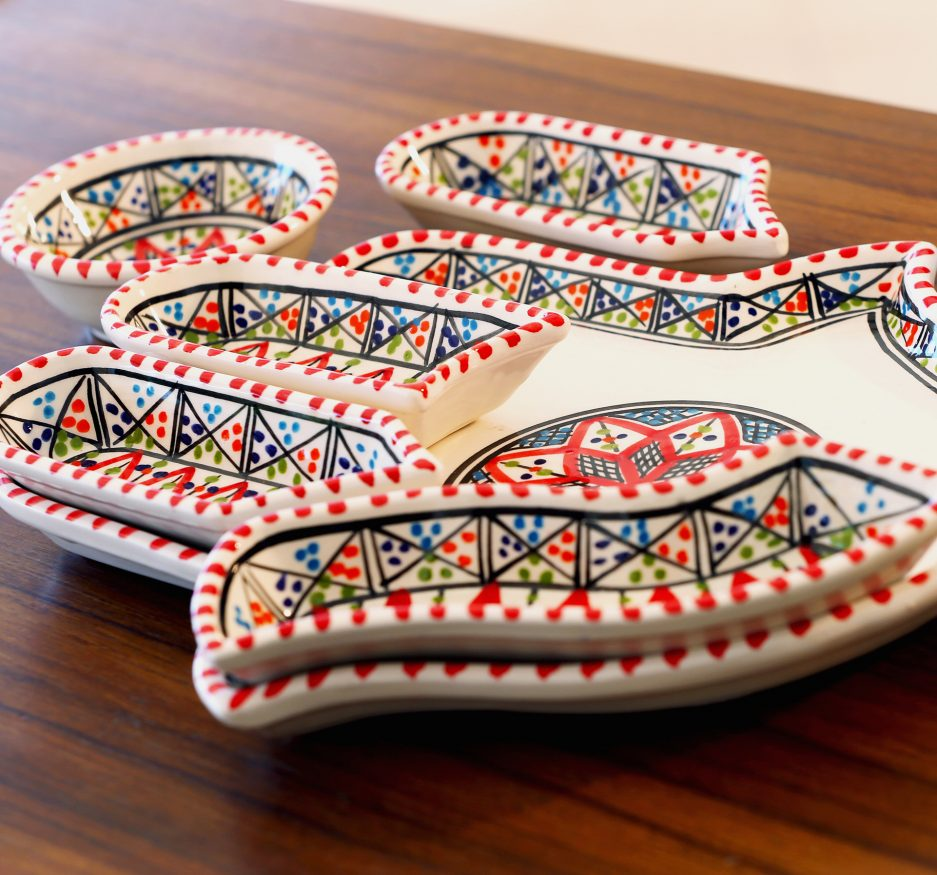 Large Kamsah Dipping set: Red-2350