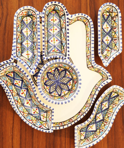 Large Kamsah Dipping set: Blue-2367