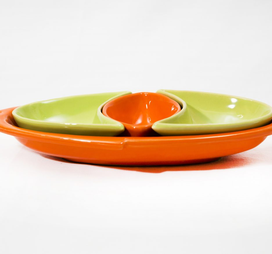 Large Fish Dipper: Orange and Green-2417