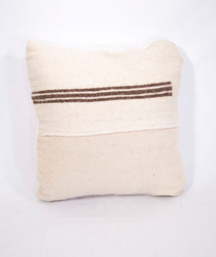 Small Wool stripped pillow-0