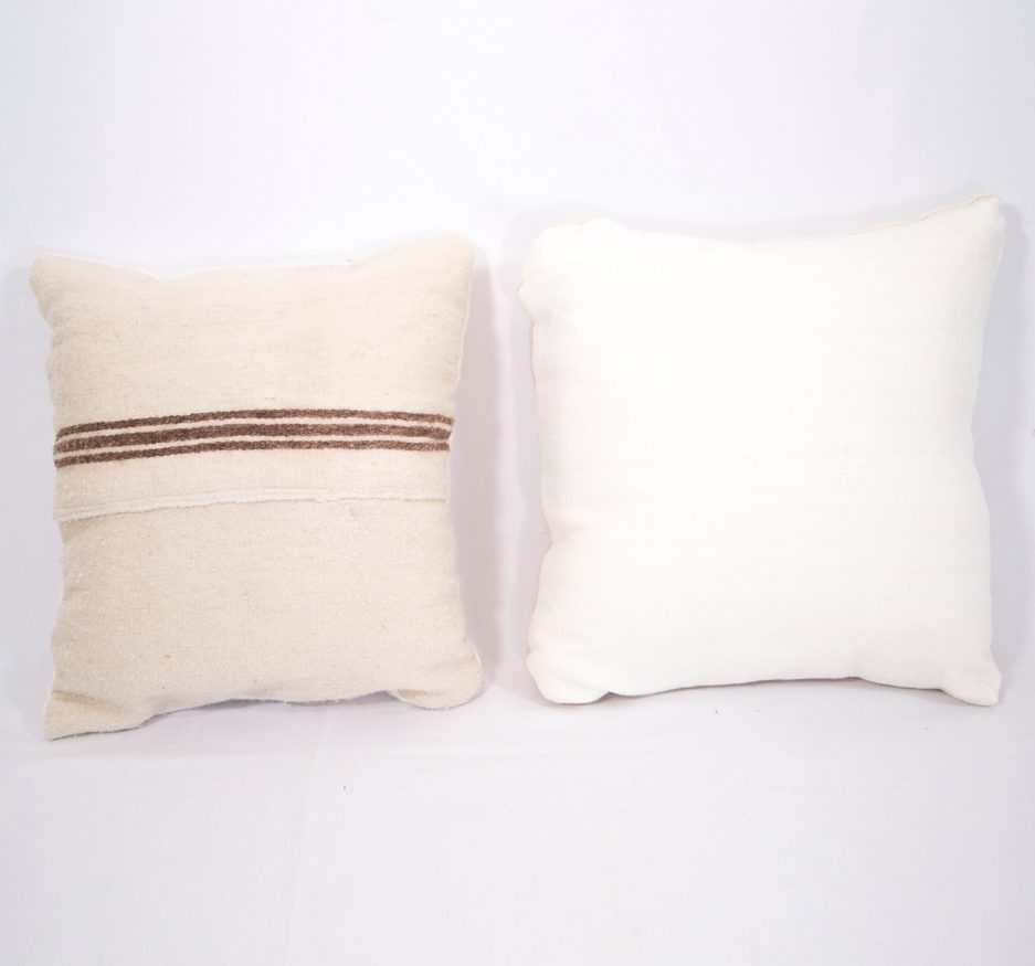 Small Wool stripped pillow-1809